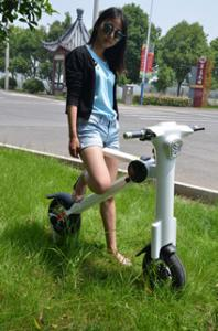 China 500w Motorised Light Weight Folding Electric Scooters For Adults on sale
