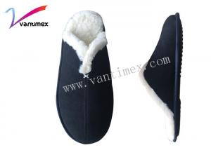 China Size 14?Mens Cotton Slippers For Winter Autumn , Warm Home Slippers on sale