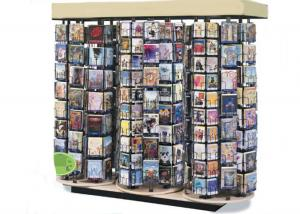 China Supmarket Video Wire Spinner Rack Display / Metal DVD Greeting Card Spinner Rack on sale