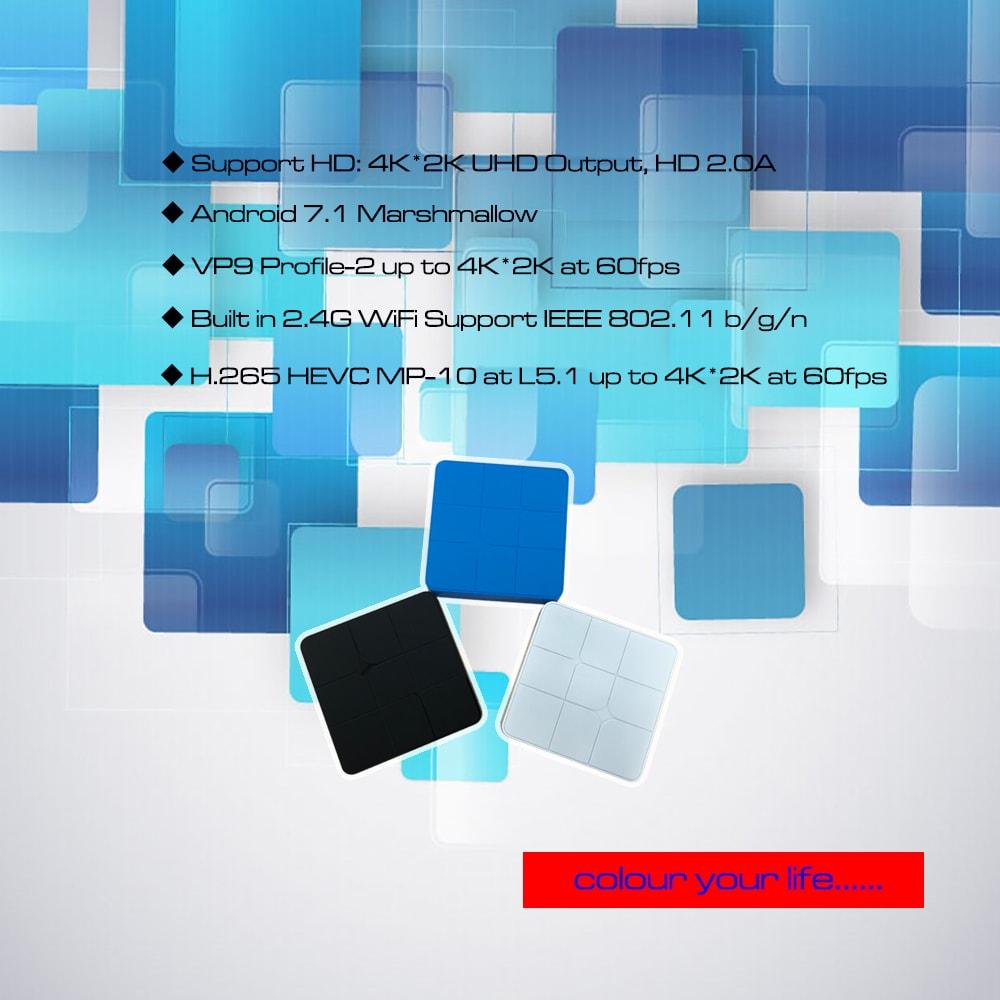 Amlogic S905W Android 7.1.2 1GB RAM 8GB ROM 2.4G WiFi 100Mbps- Black 1GB + 8GB ( EU )
