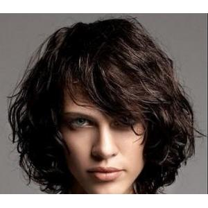 China Soft Deep wave Lace Front Human Hair Wigs , 100% Virgin Unprocessed Half Lace Wig on sale