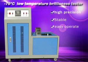 China Low Temperature Brittleness Tester Rubber Testing Instruments High Performance on sale