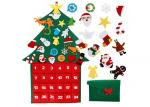 Reusable Felt Christmas Tree Decorations Advent Calendar Waterproof No Fading