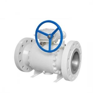 China Carbon Steel Trunnion Mounted Ball Valve 3 PieceF53 Material 600LB on sale