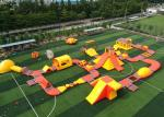 Giant Inflatable Floating Water Park / 0.9mm Pvc Tarpualins Inflatable Water Sports