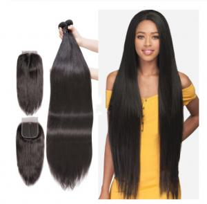 China Unprocessed Peruvian Virgin Human Hair Extensions 40 Inches Silky Straight on sale