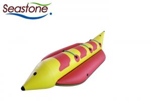 China Commercial Inflatable Banana Boat UV Resistant Long Lifespan Reinforced Knuckle Footings on sale