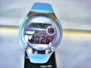 China Unisex round sporty Quartz Womens Digital Watches with plastic bezel 100m water resistant EL light on sale