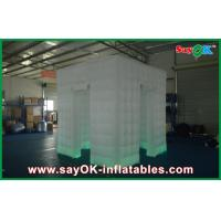 White Lighted Oxford Cloth Inflatable Photo Booth Portable For Wedding