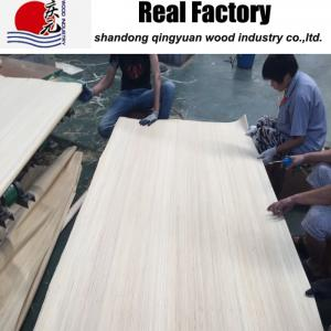 China Size 4`x8` And Other Multi Size  Engineered Veneer Poplar Veneer For Plywood Face Door Face Used on sale