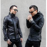 China Men's classic motorcycle leather jackets on sale