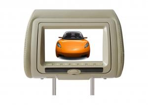China Beige 7 Inch High Resolution Dual speakers PAL, NTSC Headrest Car Dvd Players With Zipper Cover on sale