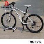 Portable Bicycle Parking Accessories Vertical Bike Repair Stand Steel Black Cycle Rack