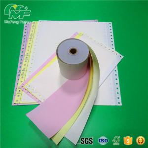 China White Pink Yellow Blue Green Color Carbonless copy paper roll on sale
