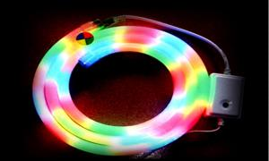 China Waterproof IP 65 Color Changing RGB Led Neon Rope With 110V 218W / Roll And 25 X 27MM Size on sale
