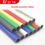 OD 28mm plastic coated lean pipe for pipe rack beige color