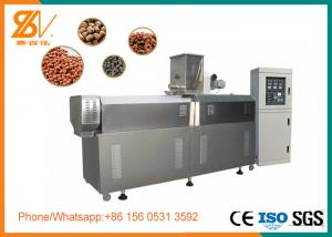 China 1 Screw Fish Food Extruder Machine , Fish Food Production Line SGS Certification on sale