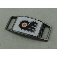 Shoe Enamel Lapel Pin With Zinc Alloy , Black Nickel Plating 1.25 Inch