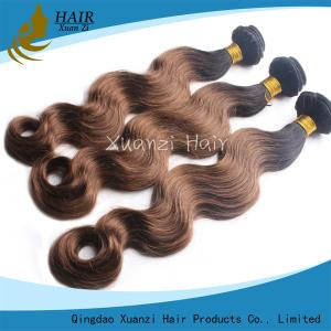 China Real Hair Colored Virgin Hair Extensions Loose Wave No Tangle No Shedding on sale