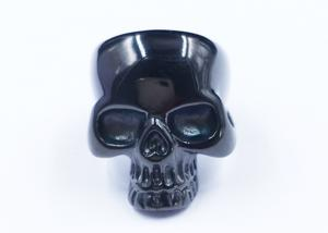 China Wholesale Custom Size 316L Stainless Steel Silver Ring Skull Jewelry For Men on sale