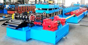 China Automatic Highway Guardrail Roll Forming Machine With 10 Ton Hydraulic De-Coiler on sale