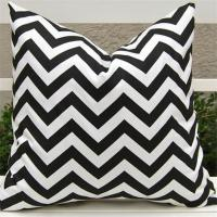 Chevron pure cotton cushion cover 45x45cm pillow cover with hidden zip