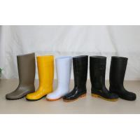 PVC Working Safety Boots with Steel Toes, Steel Mid-insole