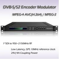 REM7001 Broadcast Equipment SDI TO DVB-S/S2 Modulator Support BISS1 BISS E Scrambling Point to Point Video Link