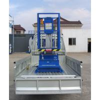6M Platform Height 130KG Loading Capacity Aluminum Aerial Work Platform with Triple Mast