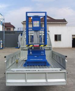 China 6M Platform Height 130KG Loading Capacity Aluminum Aerial Work Platform with Triple Mast on sale