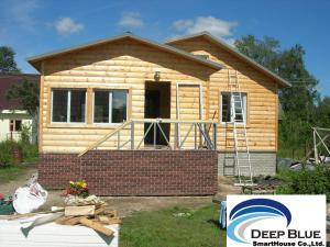 China Prefabricated House Kits House , Light Steel Structure Wooden House , Different Color Ceiling on sale