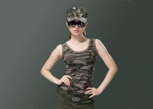 China No Sleeve Army Military Uniforms , Sexy Camo Vest Womens Unique Design With Buttons on sale