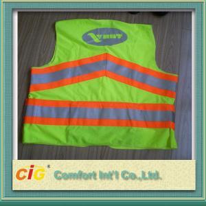 China Trabajador reflexivo rojo/del verde del camino de la seguridad de la seguridad de la chaqueta de la advertencia del chaleco del mantenimiento de carreteras on sale