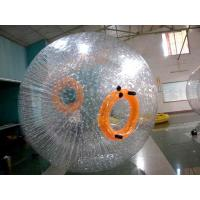 Recreational TPU Inflatable Grass Zorb , Orange 3m Diameter Soccer Zorb Ball