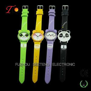 China Well designed promotional PU strap kids watches as Christmas gift on sale