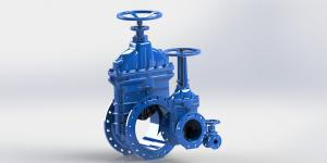 China Simple Operation Water Control Valve Resilient Gate Valve Handwheel Operated on sale
