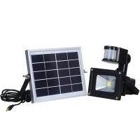China Outdoor 10W Solar Powered LED Security Flood Light With PIR Motion Sensor on sale