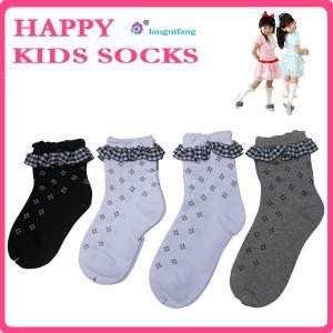 China Custom children socks,knitting kids socks, lace cotton girl socks on sale