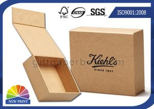 China Logo Printed Brown Kraft Paper Gift Box / Magnetic Closure Hinged Lid Cardboard Box on sale