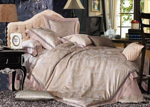 China 家の織物の絹の寝具は薄紫のキルト/枕カバー/羽毛布団カバーを置きます on sale