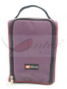 China Zipper Closure Shoe Storage Travel Bag / Shoe Carry Bag Customized Logo on sale