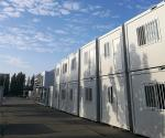 Progressive Steel Container Houses , White Color Metal Shipping Container Homes