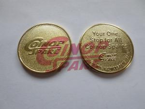 China Custom Arcade Game No Cash Value Brass Token on sale