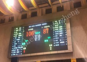 China Full Color P10 LED Scoreboard Display 1R1G1B Pixel Configuration 3 Years Warranty on sale
