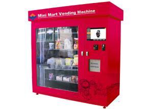 China Automatic Mini Mart Vending Machine , 19 Inch Touch Screen Adjustable Mini Mart Coin Vending Machine on sale