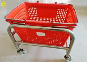 China Portable Grocery Basket With Wheels?, Durable Grocery Store Shopping Baskets on sale