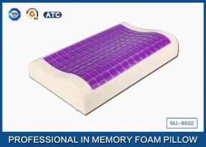 China 小さい氷の冷却のゲルの輪郭の粘弾性がある記憶泡の枕はタケ枕カバーをカバーしました on sale