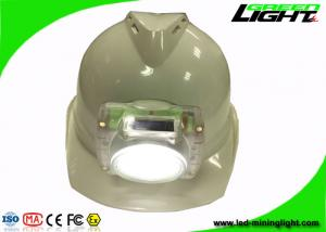China Cordless Led Mining Cap Lights , PC Plastic IP68 Miners Hard Hat Lamp for Safety Underground Mine Work on sale