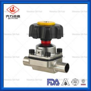 China Stainless Steel Hygienic Diaphragm Valve Multi Port DN25  Manual Diaphragm Valve on sale