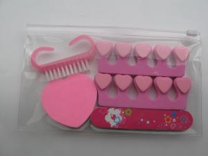 China Nail Manicure Kit / Fake Nails Kit with EVA toe Separator / EVA toe divider on sale